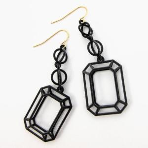 ruby printed earrings